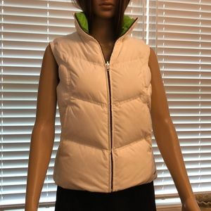 Nike green and white puffer vest